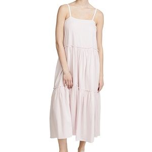 NATION LTD CATHERINE METALLIC MIDI CAMI DRESS